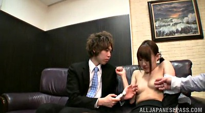 Finger, Japanese office, Japanese big tits