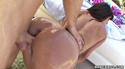 Oil, Kendra, Big oiled ass