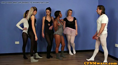 Voyeur, Ballet, Femdom handjob, Dancer, Instructor, Dominance