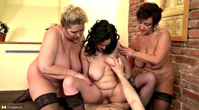Group, Busty mature, Milf group, Mothers, Lucky boy, Mother sex