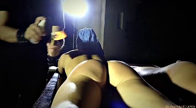 Submissive, Spanking blowjob, Teen submissive, Slime, Penalty, Outdoor bondage