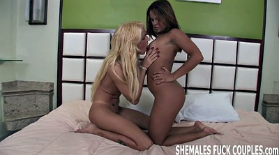 Shemale threesome, Honey