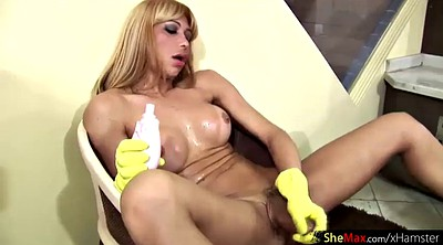 Shemale, Gloves, Rubber