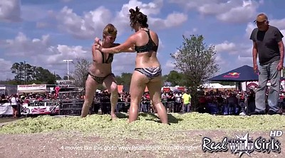 Wrestling, Flash, Public flashing, Girl fight, Girl wrestling