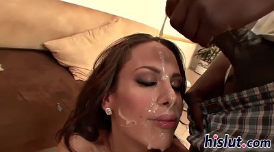 Mature interracial, Mature facial