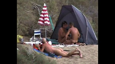 Beach, Flashing, Voyeur couples, Nudist, Beach sex