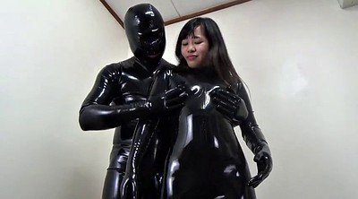Asian black, Japanese black, Latex catsuit, Japanese and black, Japanese latex, Black japanese
