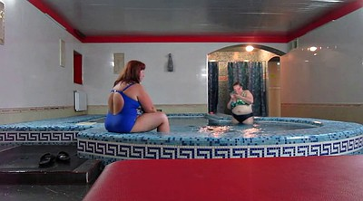Bbw, Russian mature, Sauna, Bbw mature, Russian bbw, In the pool