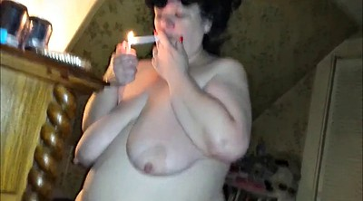 Smoking, Mom bbw
