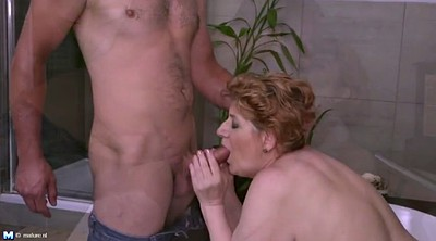 Mom and son, Son and mom, Young son, Lucky, Bbw mom, Bbw mature