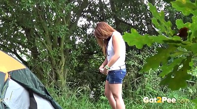 Pissing outdoor, Pee compilation