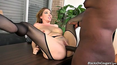 Pantyhose office, Black white, Double p