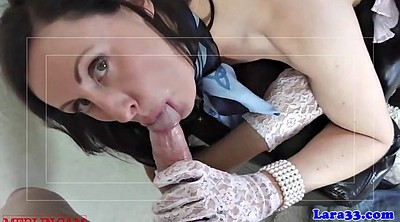 English, Gloves, Lace, English milf, English mature