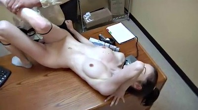 Teen couple, Secretary, Public handjob