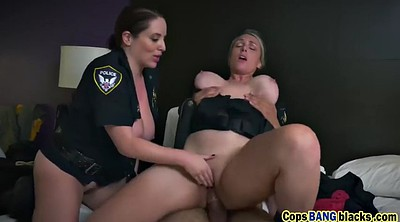 Licking pussy, Blonde two black