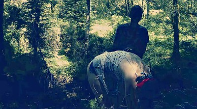 Forest, Spanking outdoor