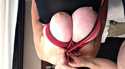 Nipple, Breast, Tight, Nipple tied, Big tit tied, Huge nipples