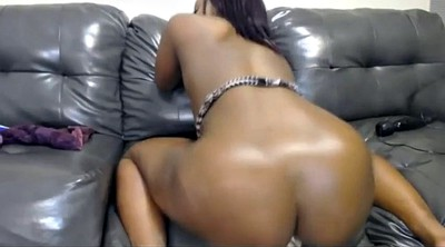 Oiled up, Oiled, Oil dildo, Ebony dildo