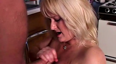 Blond, Big tit granny