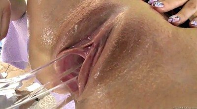 Busty anal, Insertion, Shaved anal, Cummings