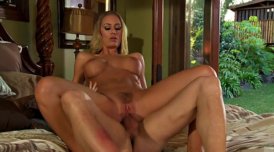 Nicole aniston, Blonde reverse cowgirl