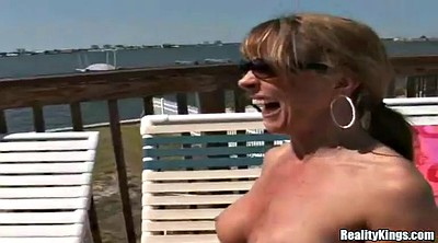 Strapon milf, Beach sex