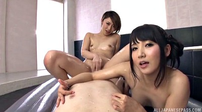 Asian foot, Asian tits, Threesome foot