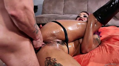 Screw, Punk, Big oiled ass, Anal doggy