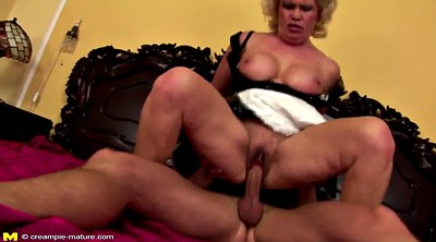 Hairy, Mature creampie