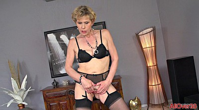 Stockings, Granny solo, Stockings mature, Saggy