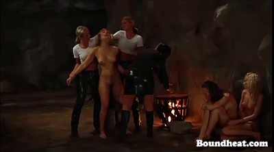 Whipping, Whip, Outdoors bondage, Lesbian bondage