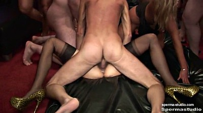 Bukkake, Cum in mouth, Gangbang creampie