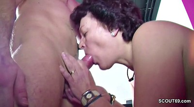 German mom, German milf, Mom caught, Mom and son, Teen milf, Step son