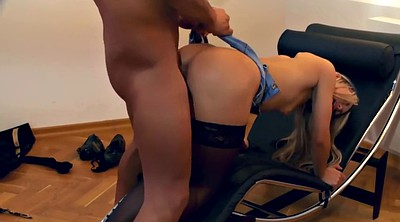 Fuck stockings, Stockings anal, Chair