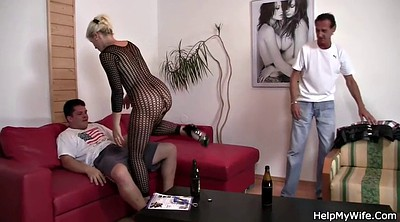 Watching wife, Czech, Grannies, Wife watching, Hubby