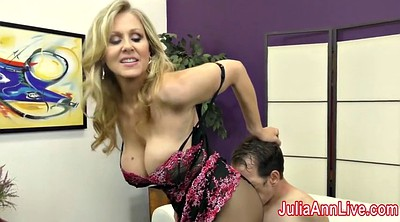 Foot tease, Julia ann, Foot slave