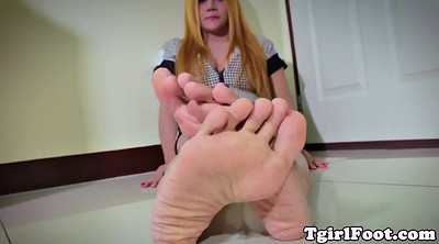 Ladyboy, Foot, Show, Beautiful shemale