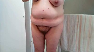 Belly, Hairy shower, Hairy wife, Big belly