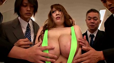 Japanese busty, Asian office
