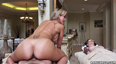 Brandi love, Table, Milf massage