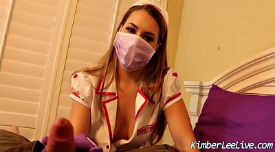 Nurse, Gloves, Glove, Lee, Gloves handjob, Glove handjob