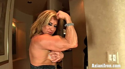 Muscle girl, Big clit, Strong, Mature girl