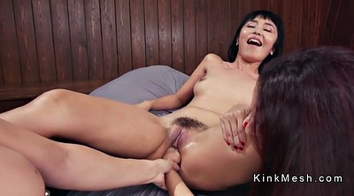 Anal dildo, Ass to mouth, Lesbian anal dildo, Ass to mouth threesome
