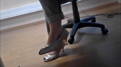 Sexy feet, Under table, Candid