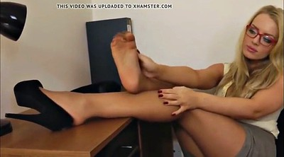 Nylon feet, Nylon foot, Secretary, Foot nylon, Feet nylon