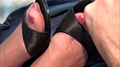 Heels, Nylon feet, Stock, Nylon feet cum