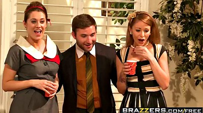 Brazzers, Ass licking, Tits at work