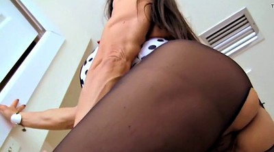 Mature pantyhose, Big clit, Mature clit