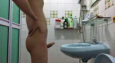 Chinese gay, Shower, Gay chinese, Chinese masturbation, Chinese handjob