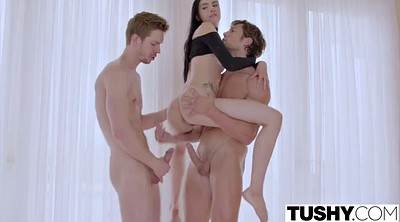 Threesome, Model, Tushy anal, Threesomes, Threesome anal